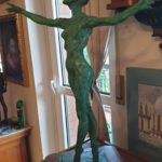 MESSINA scultura in bronzo alt. 60cm