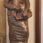 S. FIUME scultura in bronzo alt. 70 cm.
